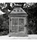 Lámparas y velas de bambú